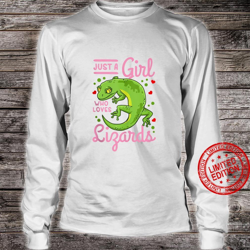 Lizard Just a Girl Who Loves Lizards Shirt long sleeved