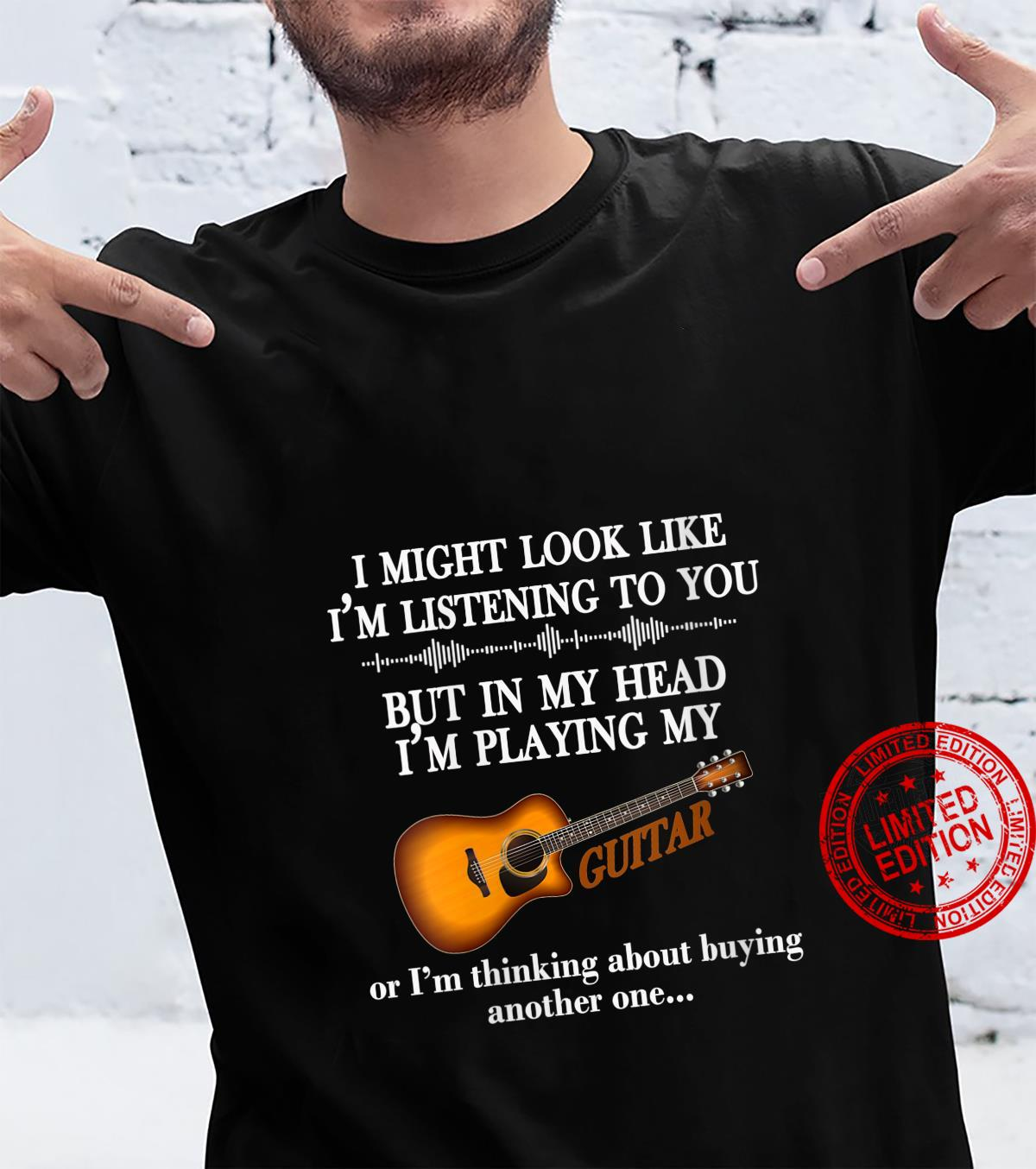 Womens I Might Look Like I'm Listening To You Guitar Shirt
