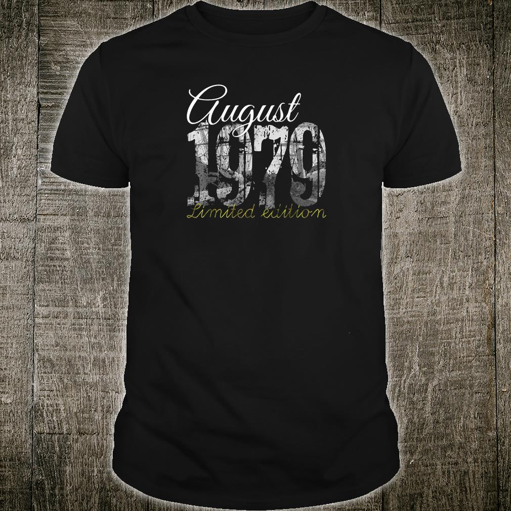 August 1979 40 year old 1979 40th birthday shirt