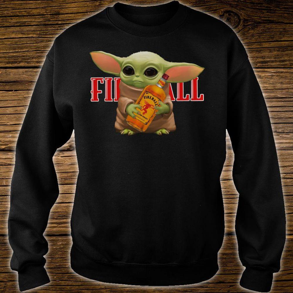 Baby Yoda hug Fireball shirt sweater