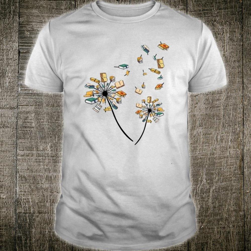Books flower fly shirt