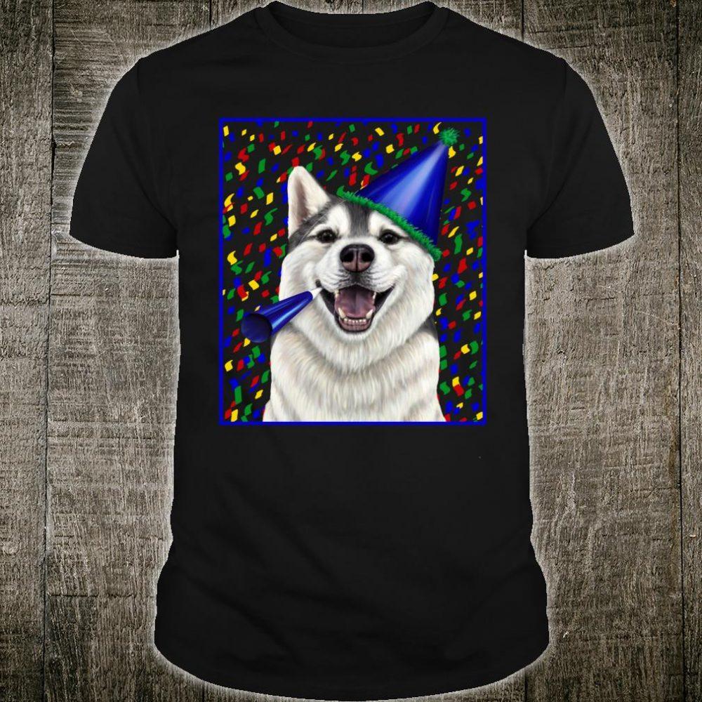 Celebration Husky dog in a party hat Shirt