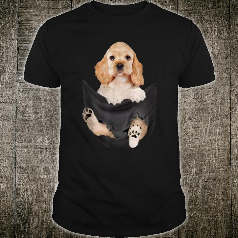 Cocker Spaniel in the pocket Tiny dog cute Shirt