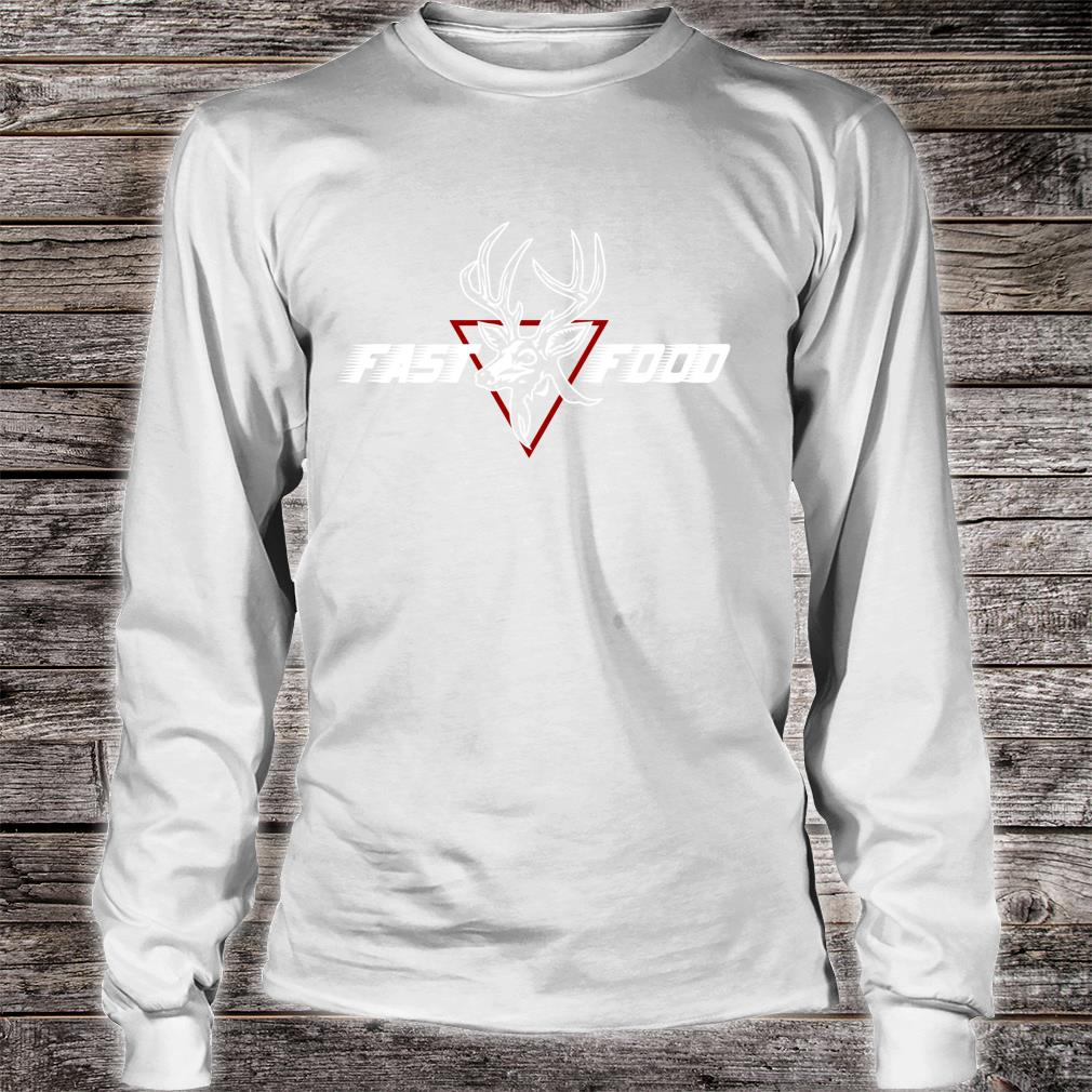 Funny Bow Hunting Gear Fast Food Retro Deer and Archery Shirt long sleeved