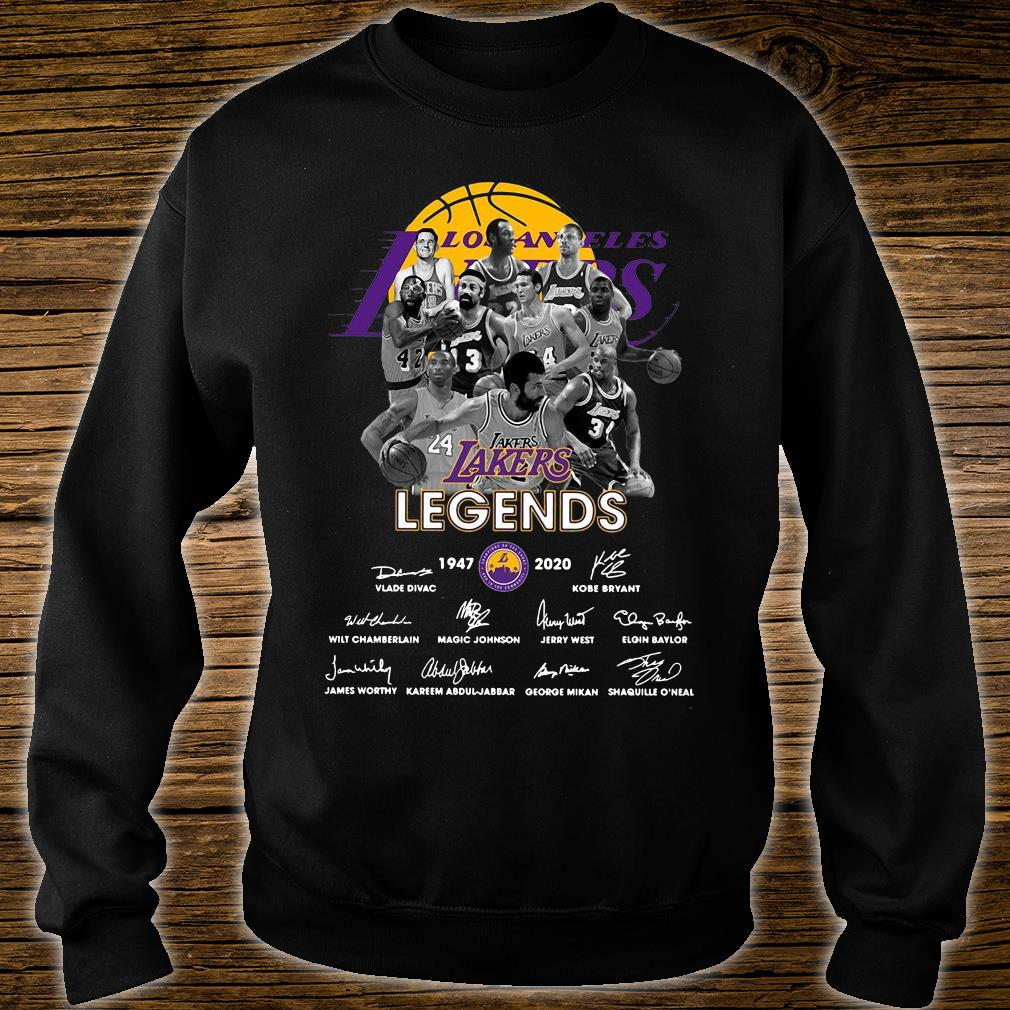 Lakers Legends 1947 - 2020 Signatures Shirt sweater