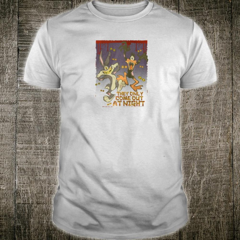 Looney Tunes Bugs and Daffy the Only Come at Night Shirt