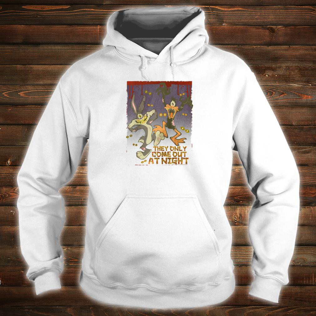 Looney Tunes Bugs and Daffy the Only Come at Night Shirt hoodie