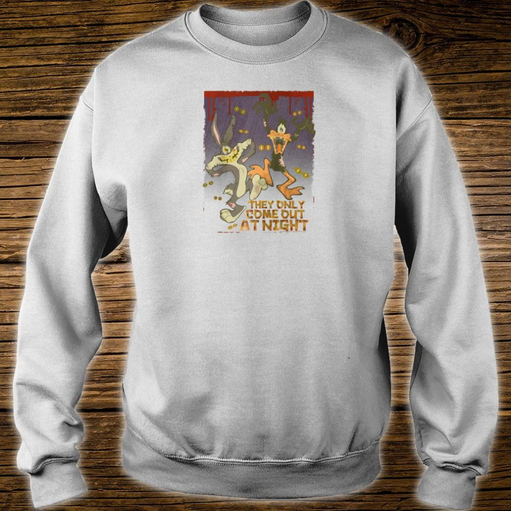 Looney Tunes Bugs and Daffy the Only Come at Night Shirt sweater