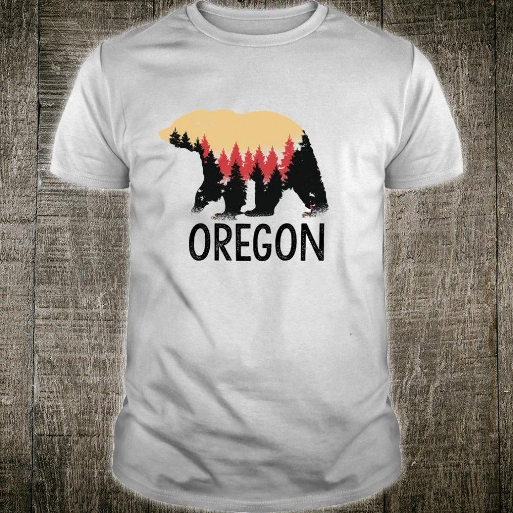 Oregon Vintage Grizzly Bear Nature Outdoor Souvenir Shirt