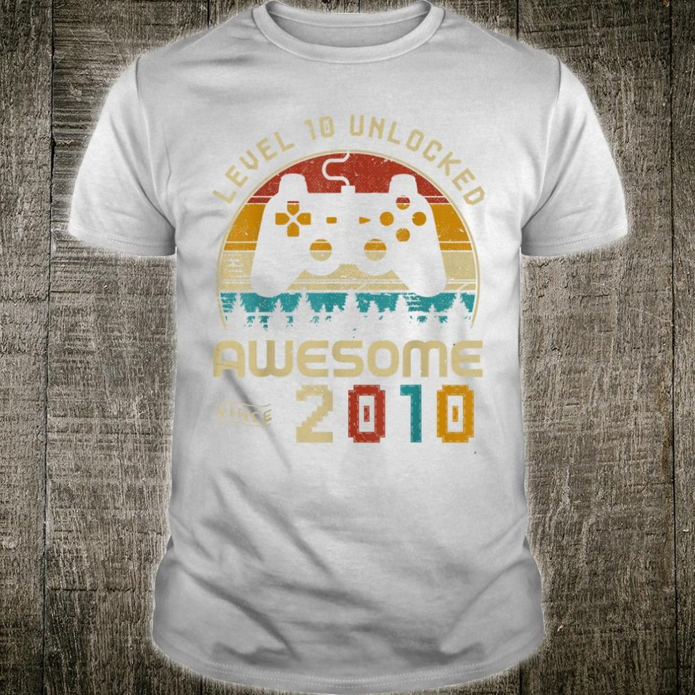 Video Game 10th Birthday Gamers Youth 10 Years Old Shirt