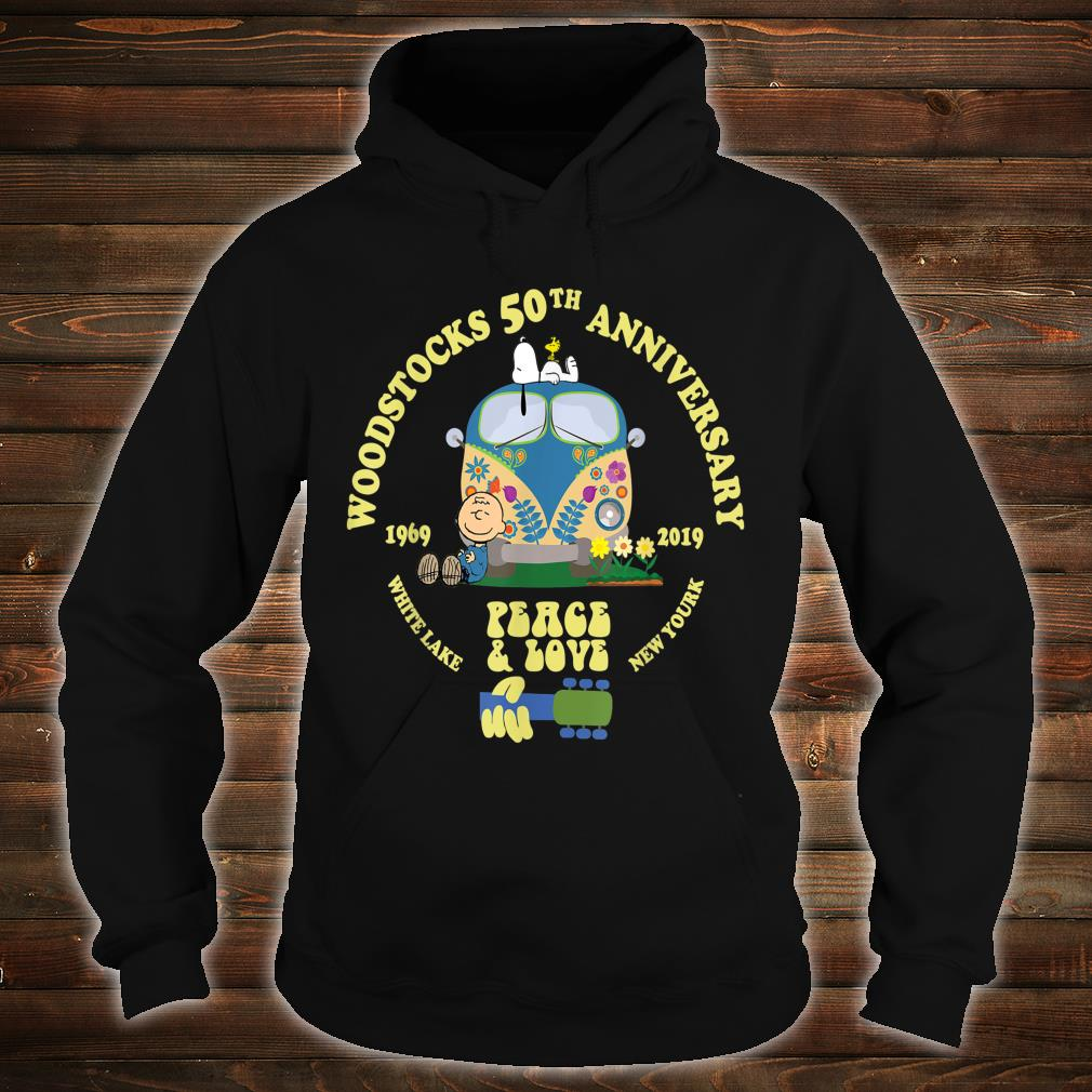Woodstocks 50th Anniversary Peace Love Shirt hoodie