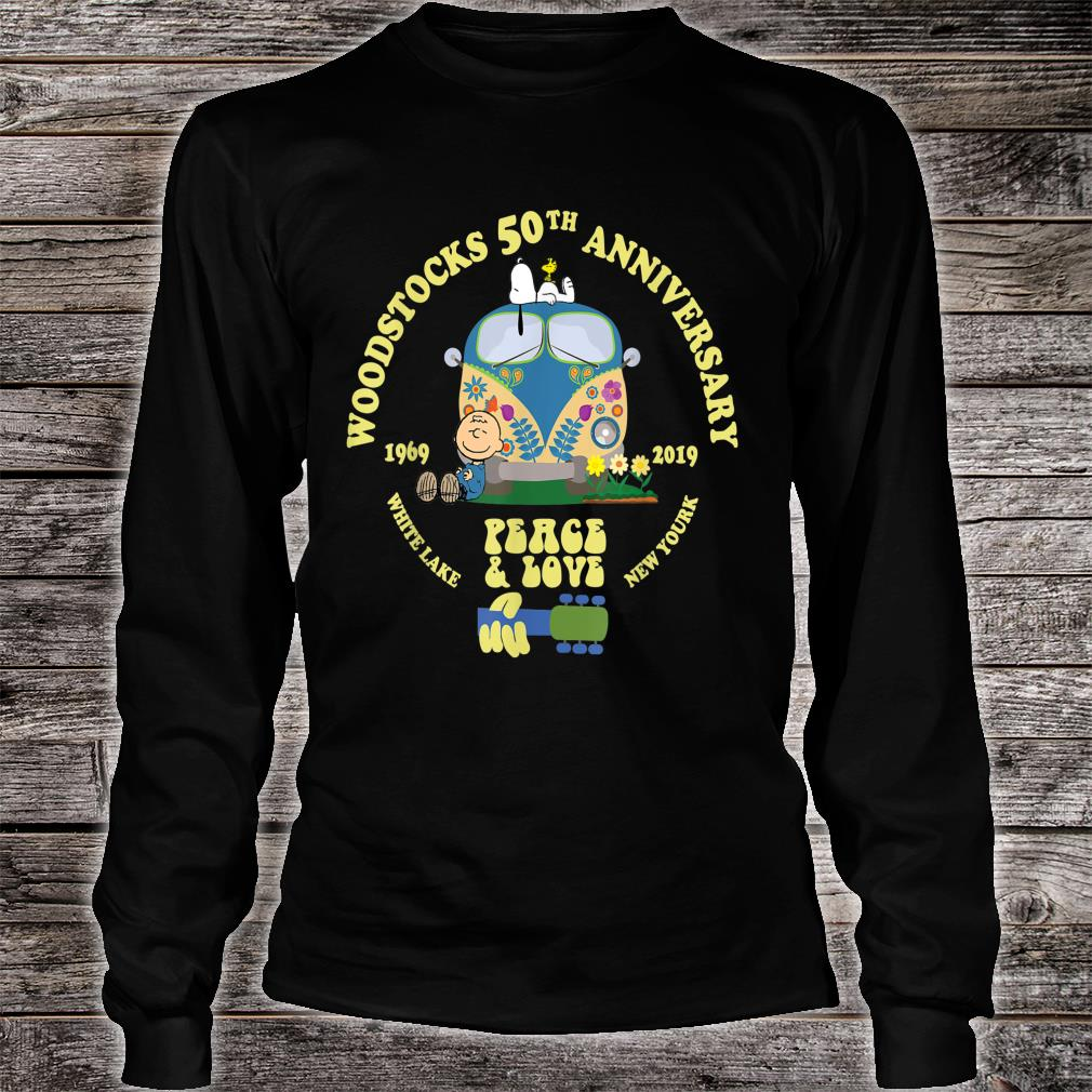 Woodstocks 50th Anniversary Peace Love Shirt long sleeved